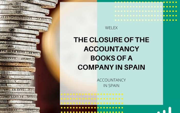 The closure of the accountancy books of a company in Spain