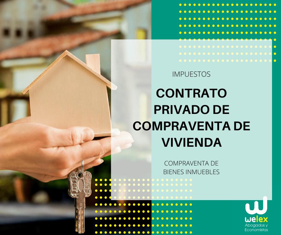contrato privado de compraventa de vivienda