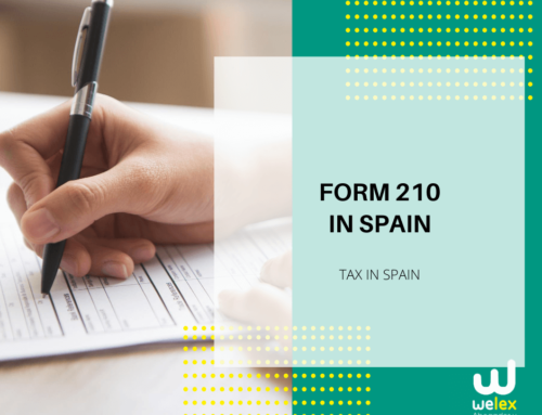 Tax form 210 in Spain: Graphic design