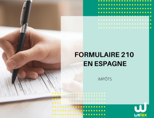 Formulaire 210 en Espagne: Design graphique