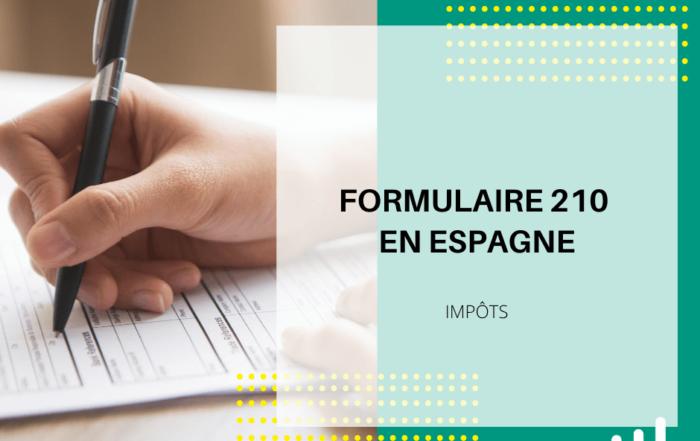 formulaire 210 en Espagne