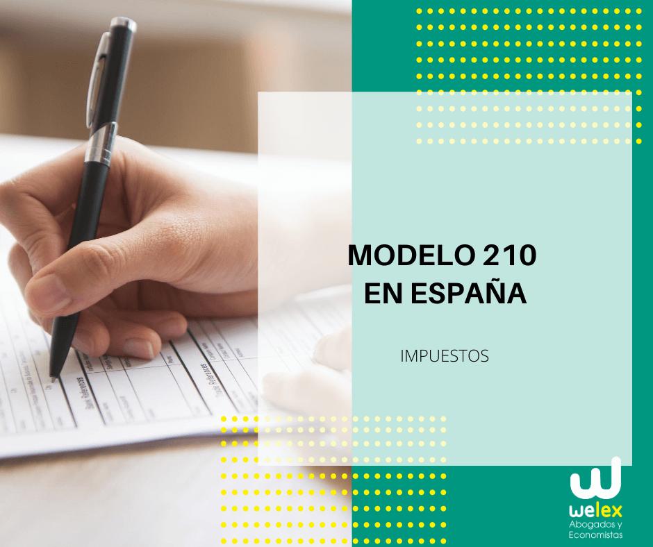 modelo 210 en España