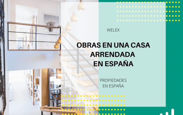 obras en una casa arrendada en España