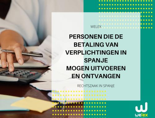 Personen die de betaling van verplichtingen in Spanje mogen uitvoeren en ontvangen | WELEX
