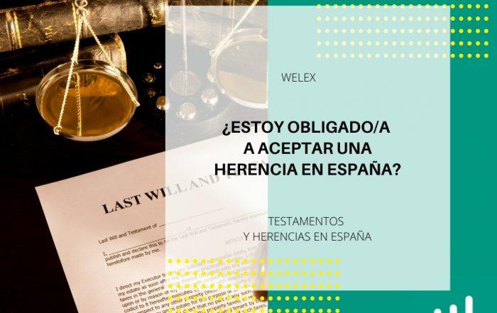 ¿Estoy obligado a aceptar una herencia en España?
