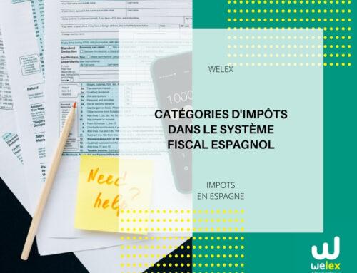 Catégories d'impôts dans le système fiscal espagnol | WELEX