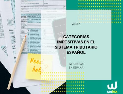 Categorías Impositivas en el Sistema Tributario Español | WELEX