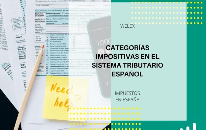 Categorías Impositivas en el Sistema Tributario Español