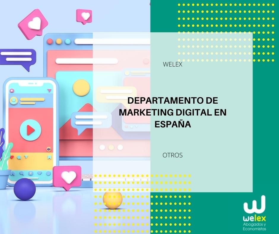Departamento de Marketing Digital en España