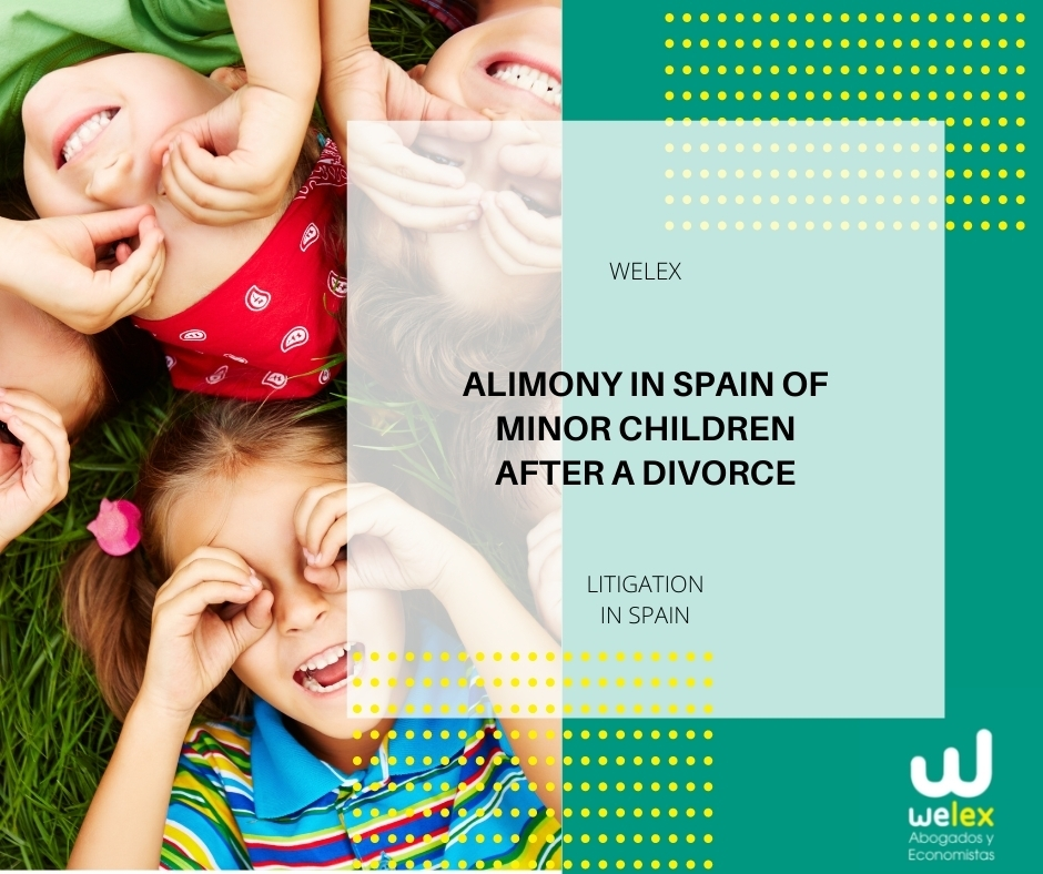Alimony in Spain of minor children after a divorce