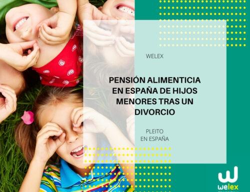Pensión alimenticia en España de hijos menores tras un divorcio | WELEX