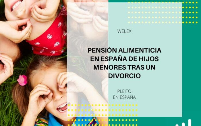 Pensión alimenticia en España de hijos menores tras un divorcio