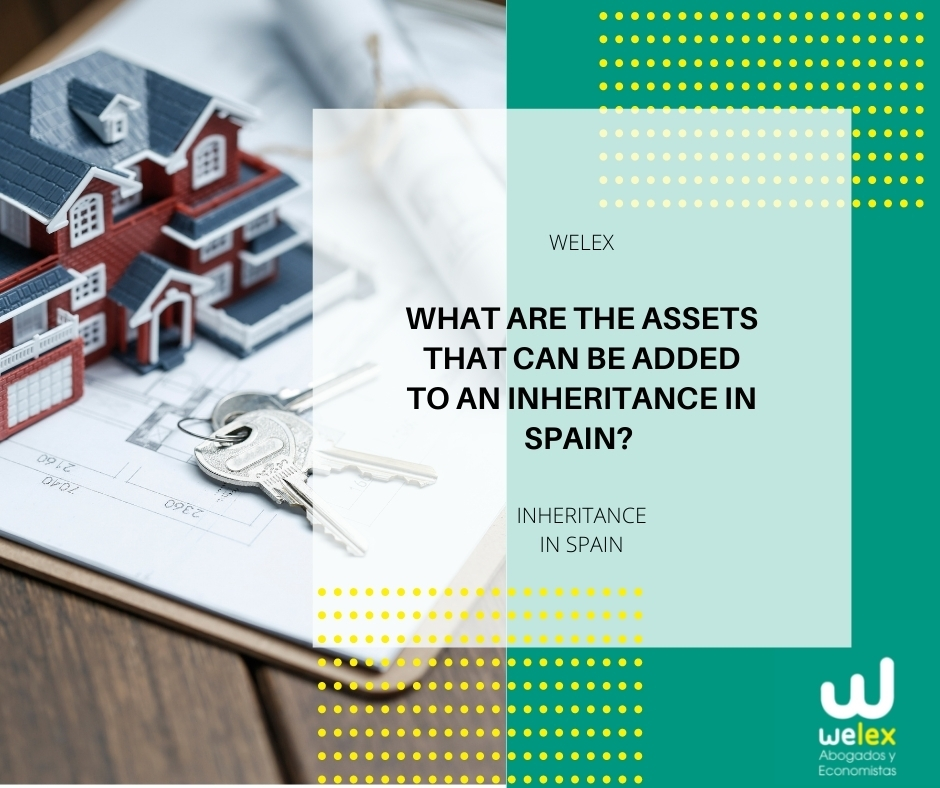 What are the assets that can be added to an inheritance in Spain