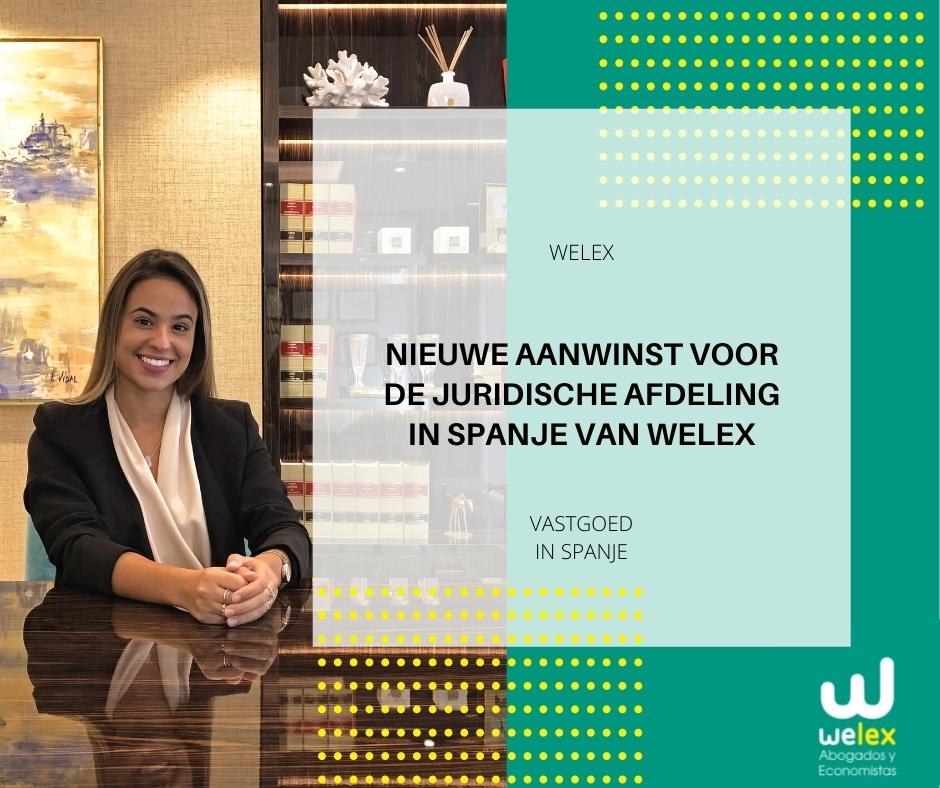 Nieuwe aanwinst voor de juridische afdeling in Spanje van Welex