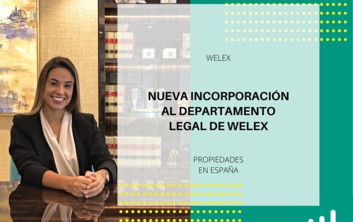 Nueva incorporacion al departamento legal de Welex en España