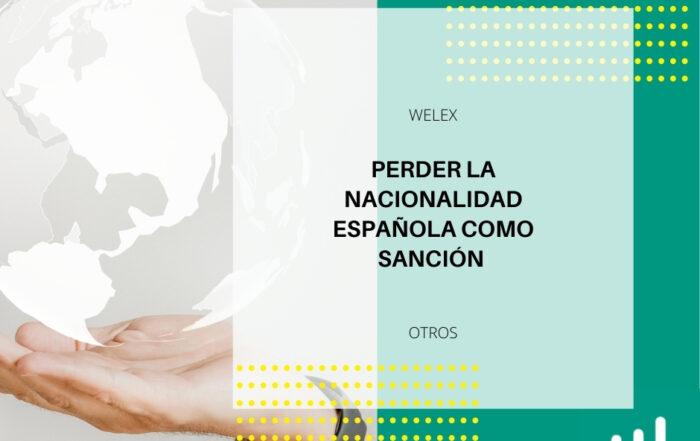 Perder la nacionalidad española como sanción
